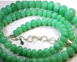 166.15CTS CHRYSOPRASE BEADS STRAND NP-2419