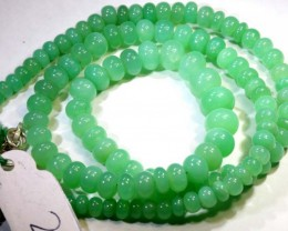 107.50CTS CHRYSOPRASE BEAD STRAND NP-2420