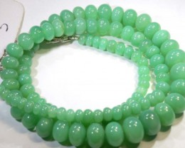 131.65CTS CHRYSOPRASE BEAD STRAND NP-2421