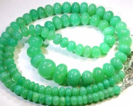 127.15CTS CHRYSOPRASE BEADS STRAND NP-2422