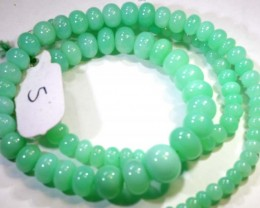 125.15CTS CHRYSOPRASE BEAD STRAND NP-2423