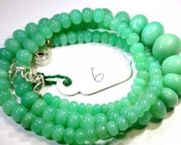 139.65CTS CHRYSOPRASE BEAD STRAND NP-2424