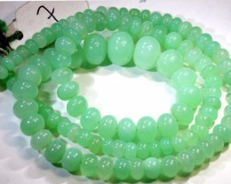 145.85CTS CHRYSOPRASE BEAD STRAND NP-2425