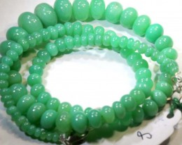 147.85CTS CHRYSOPRASE BEAD STRAND NP-2426