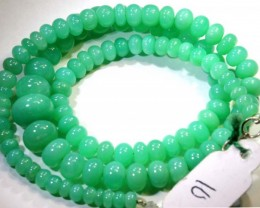 126.40CTS CHRYSOPRASE BEADS STRAND NP-2428