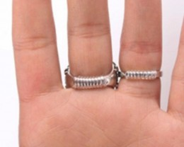 A ring resizer! Easy to customise to make your ring smaller!