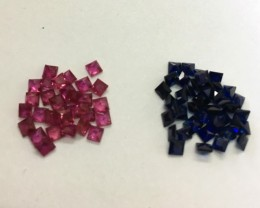 6.92 Cts Beautiful MM Size Ruby And Sapphire