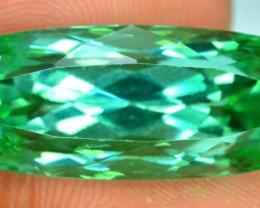 19.85 cts Radiant Cut Deep Lush Green Spodumene Gemstone From Afghanistan