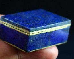 156 CT Natural lapis lazuli Carved Box Stone Special Shape