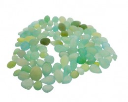643.5 cts 112 beads Seafoam Green Chalecedony Bead Lot