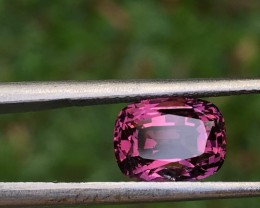 2.98 ct violetish purple natural spinel certified.