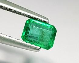 0.65 ct Fantastic Green Emerald Cut Natural Emerald