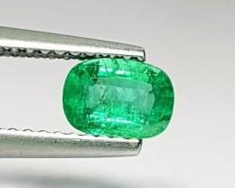 0.59 ct Top Quality Green Cushion Cut Natural Emerald