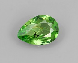 NATURAL EARTH MINED RARE HUGE MINT GREEN TSAVORITE GARNET NR!!!