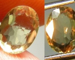 Certified 1.19cts  Color Chancing Diaspore (Zultanit), 100% Natural Gemston