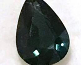 2.55ct Shiny Dark Green Pear Shape Sapphire VVS TH27 F94
