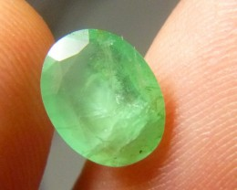 Certified 1.78cts Colombian Emerald , 100% Natural Gemstone