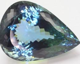 Untreated 465.30 Ct Natural Bluish Green Spodumene ( Kunzite )