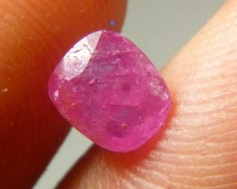 Certified 1.38cts Natural Burmese  Ruby , Untreated Gemstone