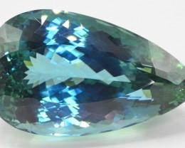 Untreated 371 Ct Natural Bluish Green Spodumene ( Kunzite )