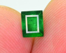 0.55 Ct Gorgeous Color Natural Vivid Green Emerald Swat ~ RA