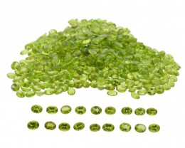 Peridot 50cts 26st 9x7mm Oval