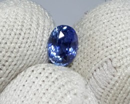 UNHEATED CERTIFIED 1.06 CTS NATURAL BEAUTIFUL CORNFLOWER BLUE SAPPHIRE CEYL