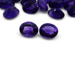 2 Stones - 4.90 ct Amethyst 10x8mm Oval - $1 No Reserve Auction