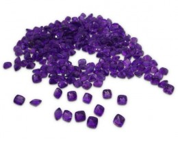 10 Stones - 9.80 ct Amethyst 6x6mm Cushion - $1 No Reserve Auction