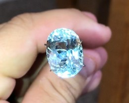11.85 cts VVS Aquamarine - Supreme Luster, Eye Clean