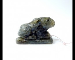 173.75ct Labradorite Carved Rabbit Pendant(18051903)