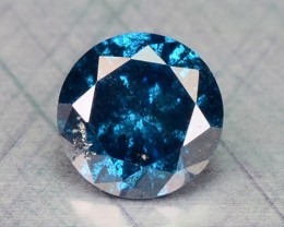 0.16 Cts Natural Blue Diamond Round Africa