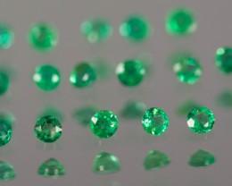 Green Emerald  1.97 - 2.03 mm 0.62 ct Zambia GPC Lab