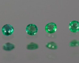 Green Emerald  2.10 mm 0.62 ct Zambia GPC Lab