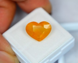 7.93Ct Natural Yellow Sapphire Heart Cut Lot V1406