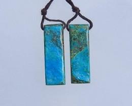 4.2g Beautiful Nugget Blue Opal Earring Pair 27x9x5mm(18052003)