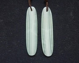 4.0g Beautiful Nephrite Jade Earring Beads 35x8x3mm(18052010)