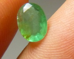 Certified 1.14cts Zambian Emerald , 100% Natural Gemstone