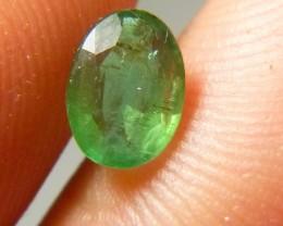 Certified 1.05cts Zambian Emerald , 100% Natural Gemstone