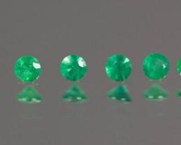 Green Emerald 2.84 - 2.86 mm  0.47 ct Zambia GPC Lab