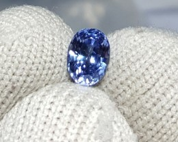 UNHEATED CERTIFIED 1.00 CTS NATURAL BEAUTIFUL CORNFLOWER BLUE SAPPHIRE CEYL