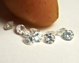 2.64 Tcw. VS White Southeast Asian Zircons - 3.5mm - 10pc.