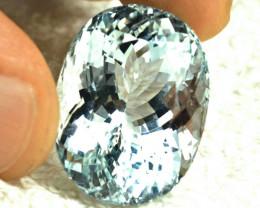 CERTIFIED - 44.255 Carat IF/VVS1 Himalayan Silver Blue Aquamarine- Superb