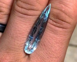 12.65 cts Aquamarine - Minas Gerais, Brazil - Teardrop Shape