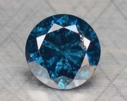 0.15 Cts Natural Blue Diamond Round Africa