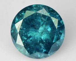 0.22 Cts Natural Blue Diamond Round Africa
