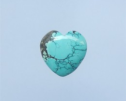 14.5ct  On Sale Heart Shape Turquoise Cabochon(18052111)