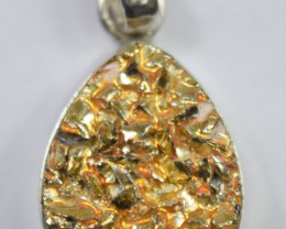 NATURAL DRUZY PENDANT 925 STERLING SILVER