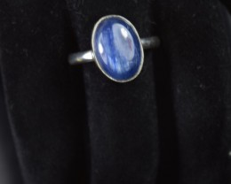 NATURAL KYANITE RING 925 STERLING SILVER