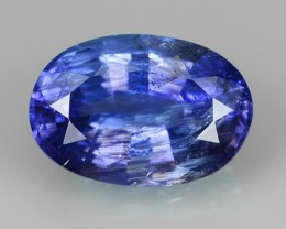 1.95 CTS MIND BOGGLING NATURAL RICH FIRE BLUE COLOUR  TANZANITE UNHEATED NR